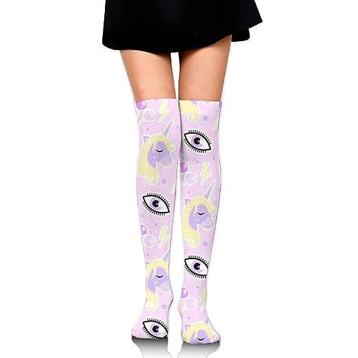 778dc1817fdaa Amazon.com: ZOZGETU Long Socks Cartoon Red Animal Compression Socks ...