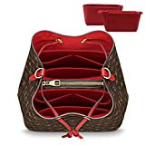 LEXSION 2-Pack Felt Handbag Organizer ,Insert purse organizer Fits LV Neonoe Perfectly Red M
