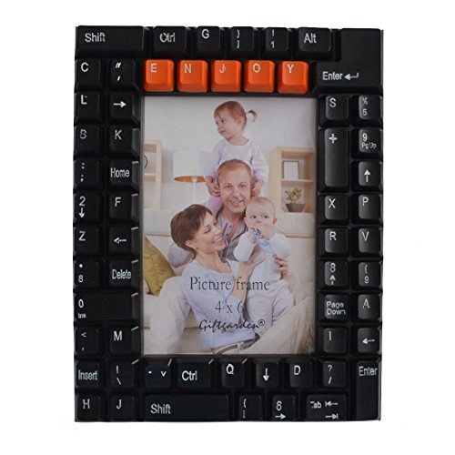 Giftgarden Friend gift 4 by 6 -Inch Keyboard Picture Frame for Computer Gifts for Photo 4x6
