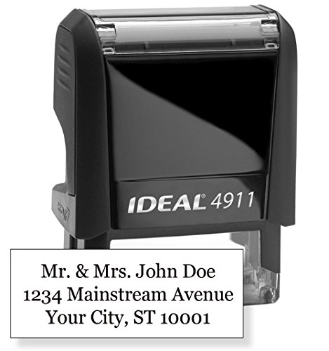 Trodat 4911 Text Stamp 9/16'. x 1-1/2' - Customize Online up to Three lines of type - Many font and color choices