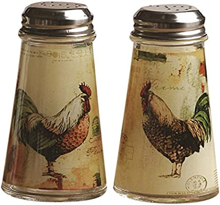 Details about  /Decorative Rooster Themed Salt And Pepper Shakers Western Kitchen Dining New