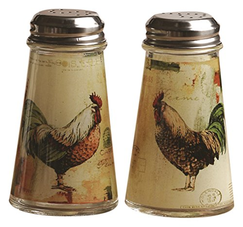(Circleware 66761 Salt and Pepper Shakers, 2-Piece Set, 4 oz, Rooster)