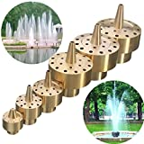 Brass Column Fireworks Water Fountain Nozzle Garden Pond Sprinkler Spray Head (1/2'')