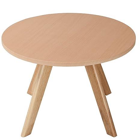 D&L Legno massello Impermeabile Tavolino da salotto, Tondo Soggiorno ...