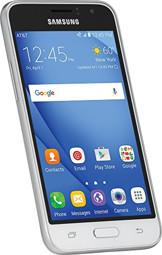 "Samsung Galaxy Express 3 J1 - J120A White, 8GB, 4.5"" LCD, Unlocked, Bulk Packed, Android 6.0 Marshmallow, LTE - for Rogers, Chatr, FIDO, Telus, Koodo, Bell, Virgin"