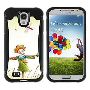 Pulsar Defender Series Tpu silicona Carcasa Funda Case para SAMSUNG Galaxy S4 IV / i9500 / i9515 / i9505G / SGH-i337 , Design Happy Scarecrow