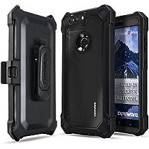 ZTE Blade Z Max / Sequoia Case, COVRWARE [Ranger Pro] Built-in [Screen Protector] Full Body Rugged Holster Armor Case [Belt Swivel Clip][Kickstand] for ZTE BLADE Z MAX (Z982), Black