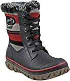 Bogs Womens Arcata Sripe Snow Boot Cherry Size 7