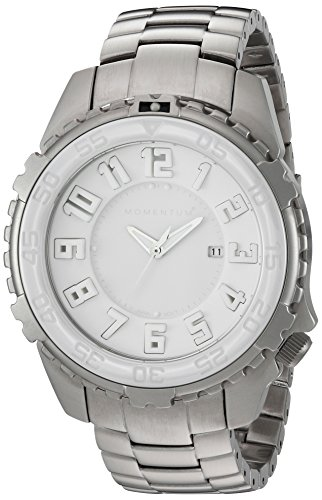 Momentum Men's 'Polar Bear' Quartz Stainless Steel Diving Watch, Color:Grey (Model: 1M-DV62W00)