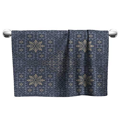 Andasrew Custom Towel Background Retro Vintage Wallpaper 1112,Towel Stands for bathrooms