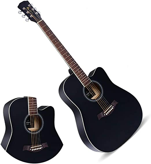 BAIYING-Guitarra Acústica Principiante Rock Adolescente Sonido ...