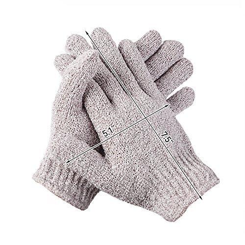Exfoliating Bath Gloves Shower Exfoliation Nylon Mesh Gloves Bath Spa Exfoliating Scrubber, Bathing Glove Mitt Scrubs Away Dead Skin Cells and Improve Blood Circulation Multi color 5 Pairs by KRRAMEL