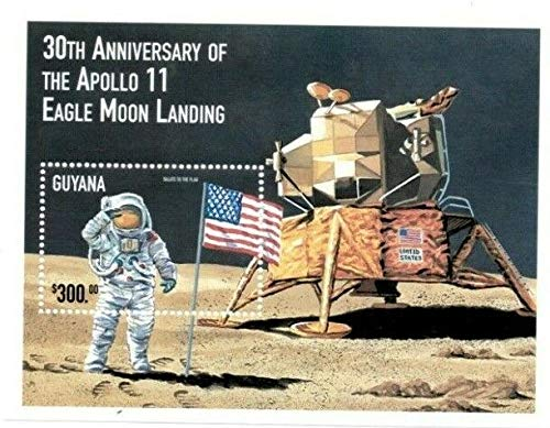 Apollo 11-30th Anniversary of The Moon Landing - Limited Edition Collectors Stamps - Guyana