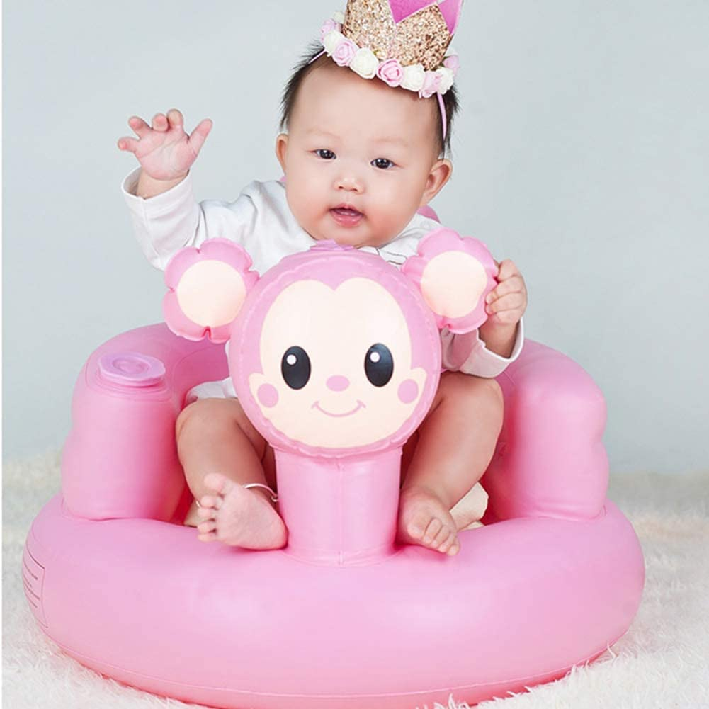 19.7 x 20.9 x 13.8inch Infant Support Seat Chair Portable Inflatable Baby Sitting Chair Kids Bath Sofa Learn Seat for Toddlers Kids Baby Inflatable Bath Seat