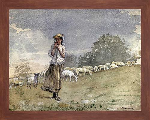(Tending Sheep, Houghton Farm by Winslow Homer - 20