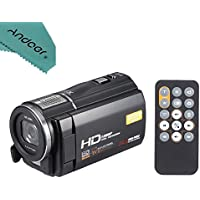 ORDRO HDV-F5 1080P Full HD 3.0 Rotatable Touch Screen LCD Digital Video Camera Recorder Camcorder DV DVR 24MP 16X Digital Zoom Anti-shake with Remote Controller