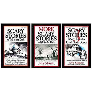 Scary Stories To Tell in the Dark 3 Set by Alvin Schwartz