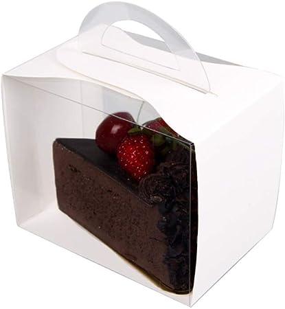 WTY Portador De La Torta Cajas De Pastel Caja De Panadería con Ventana para Pasteles, Galletas, Cupcakes, Rosquillas Y Más 50Pack: Amazon.es: Hogar