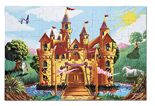 Melissa & Doug Fairy Tale Castle Floor Puzzle (Easy-Clean Surface, Promotes Hand-Eye Coordination, 48 Pieces, 24