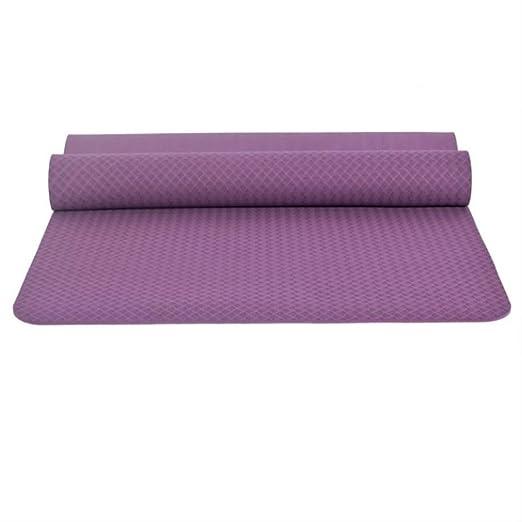 jkkl India Estera de yoga gruesa antideslizante de 6 mm para ...