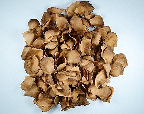 Ben Collection 300 Pieces Silk Rose Petal Wedding Decoration (Brown)