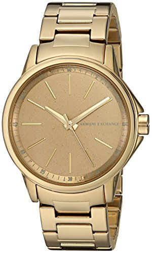 Armani Exchange Women's  Gold Stainless Steel Watch AX4351