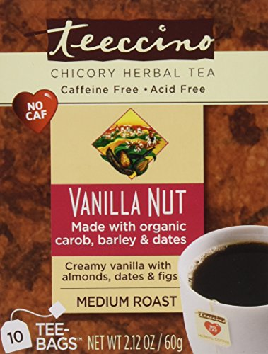 (Teeccino Chicory Herbal Tea, Vanilla Nut, Tea Bags 10 Count (Pack of 6))