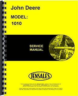 john deere 1010 gas diesel tractor service manual jd s sm2033 rh amazon com john deere 2010 repair manual download john deere 1010 crawler parts manual