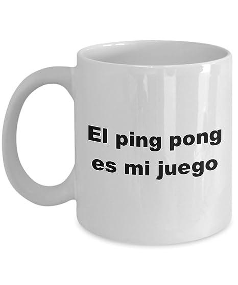 Amazon.com: Taza El ping pong es mi juego para hombre Mujer ...
