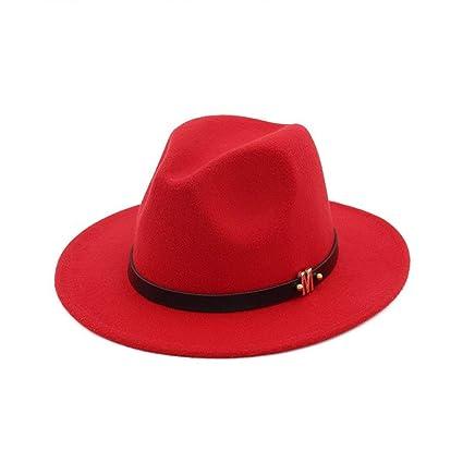 d6796beddda Amazon.com: Myhome99 Fedora Hat for Women Men Ladies Wool Winter M ...