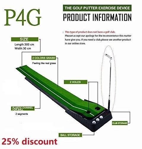 (Indoor Golf Set P4G Ball Auto Return Putting Mat Indoor and Outdoor Mini Golf)