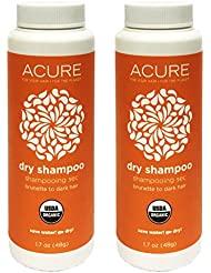 Acure Organic Dry Shampoo for Brunette to Dark Hair 1.7 Ounce (Pack of 2)