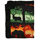 Nicki's Diapers Cuddle Throw Blanket, Into The Woods (48''x70'')