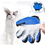 #4: Pet Grooming Glove - Pet Hair Remover Glove - Efficient Pet Hair Remover Mitt - Massage Tool for Dogs & Cats with Long & Short Fur 2-in-1