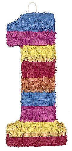 Multicolor Number 1 Pinata