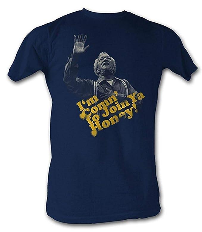 873cc1b92 Fred Sanford   Son Shirt I m Coming to Join Ya Honey T-shirt Tee Navy Blue