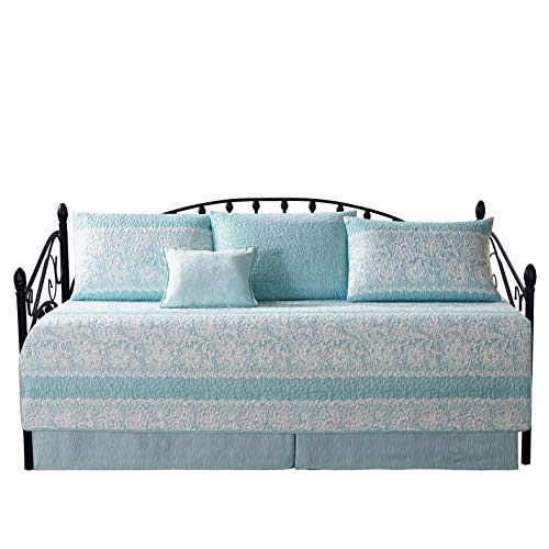 Home Soft Things Serenta Emma Teal 6 Piece Quilted Daybed Set, 75″ x 39″