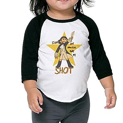 Unisex Toddlers/Kids Musicals Hamilton 3/4 Sleeve Baseball T-Shirt