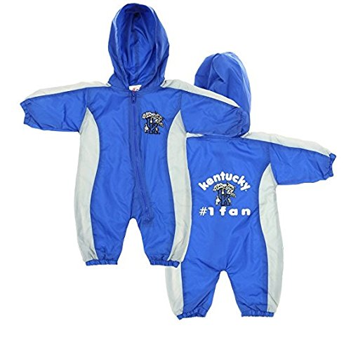 (Kentucky Wildcats NCAA Baby Boys Hooded Windbreaker Coverall, Blue )