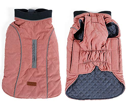 Rantow Reflective Dog Coat Winter Vest Loft Jacket for Small Medium Large Dogs Water-Resistant Windproof Snowsuit Cold Weather Pets Apparel, 6 Colors 7 Sizes