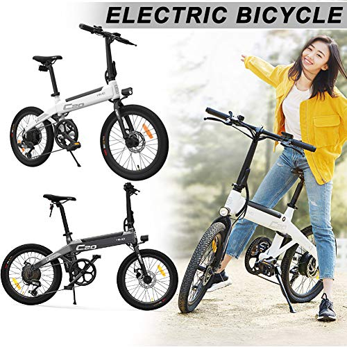 Gebuter Foldable Electric Moped Bicycle,Folding Electric Bikes For Adults 25km/h Bike 250W Brushless MotorRiding,Electric Moped Continuous Sailing Mileage80km Load Capacity100kg