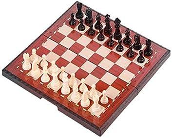 ATLT Preciosa de ajedrez, juego de ajedrez plegable, caja ...