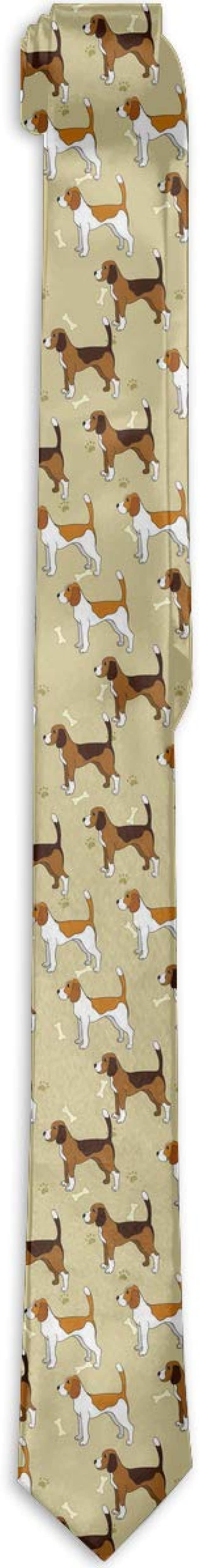 Slim Mens Funny Fashion Necktie Beagle Dog Durable Polyester Ties Formal Casual For Party Wedding Neck Tie