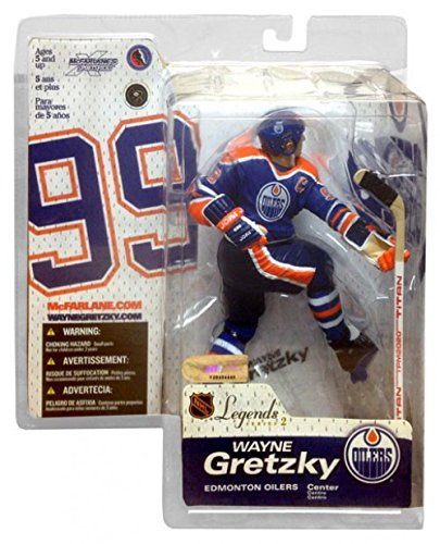 McFarlane Toys NHL Legends Series II Figure: Wayne Gretzky with Blue Edmonton Oilers Jersey (Center)