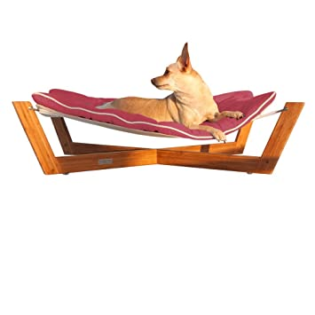 Pet Hammock Small Bamboo Dog And Cat Pet Bed With Passion Pink