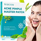 WAYCOM Acne Pimple Master Patch-63 Count,Acne Patch Covers -White and Black Combination Hydrocolloid Acne Pimple Tea Tree Oil Anti-inflammatory Sterilization Fast Healing Drug-Free Breathable