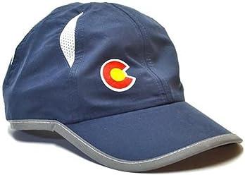 cef8e88ca80b66 YoColorado Marathon Running Run Colorado Flag Hat (Deep Navy)