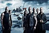 The Fate of the Furious Movie Poster Limited Print Photo Vin Diesel, Dwayne The Rock Johnson Charlize Theron Size 22x28 #2