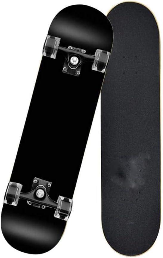 Erwachsene Kinder Skateboard Komplettboard mit ABEC-9 Lager 7-Schicht 92A Hard Maple Deck IDE Play Skateboard Deck 31 x 8 x 4 Zoll,Black red Squares