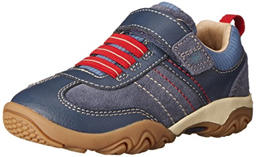 Sporty Sneakers Suede - Stride Rite SRTech PS Prescott Sneaker (Toddler/Little Kid),Blue,11.5 W US Little Kid